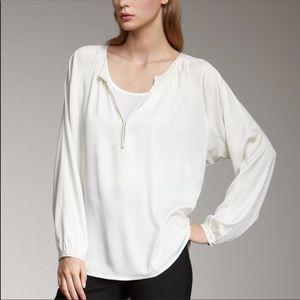 Vince Long Sleeve Silk Blouse Medium